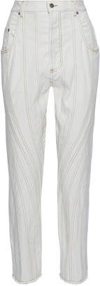 Thierry Mugler Paneled Denim Straight-leg Jeans