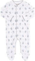 Barneys New York Lion-Print Footed Coverall-WHITE, BLUE