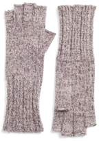 Halogen Women's Rib Knit Fingerless Gloves