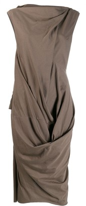 Rick Owens deconstructed fitted dress
