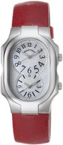 Philip Stein Teslar Women's 2-NFMOP-CPR Signature Red Pashima Pearl Strap Watch
