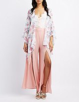 Charlotte Russe Floral Bell Sleeve Kimono