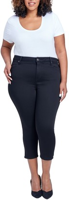 Seven7 Lia Ultra High Cropped Skinny Jeans (Plus Size)