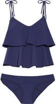 Lisa Marie Fernandez Imaan Ruffled Stretch-crepe Bikini - Blue