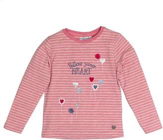 Salt&Pepper Salt and Pepper Girl's Longsleeve Wild Heart Stripe T-Shirt