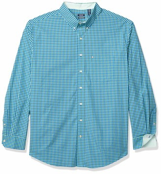 Izod Mens Big and Tall Long Sleeve Stretch Performance Gingham Button Down Shirt