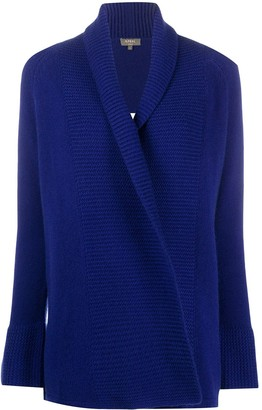 N.Peal Ribbed-Panel Cashmere Cardigan