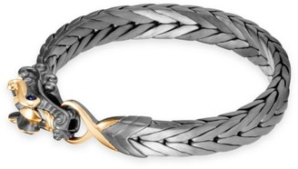 John Hardy Legends Naga 18K Yellow Gold & Silver Sapphire Dragon Bracelet