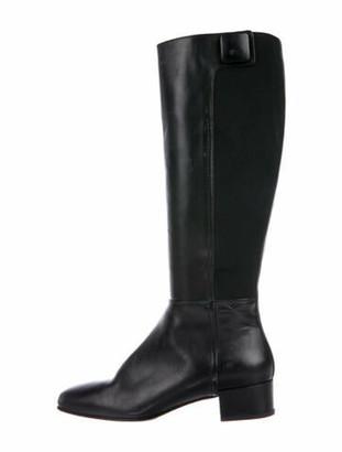 Aquatalia Leather Riding Boots Black