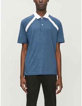 Canali Contrast collar cotton-jersey polo shirt