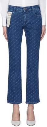 Stella McCartney Monogram print cropped flared jeans
