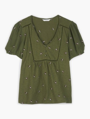 Allover Embroidered Top