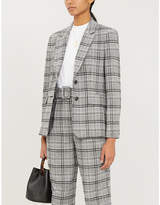 Claudie Pierlot Voeuxh fitted single-breasted woven blazer