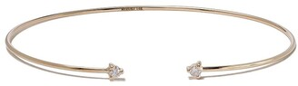 Mizuki 14kt Yellow Gold Two Diamond Open Bracelet