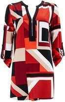 Red Geometric Printed Shirt