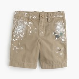 J.Crew Boys' limited-edition paint splattered Stanton shorts