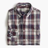 J.Crew Secret Wash shirt in indigo plaid slub cotton