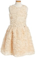 Marciano Girl's Rosette Foil Fit & Flare Dress
