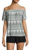 Soft Joie Castiel Off-The-Shoulder Ikat Top
