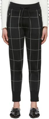3.1 Phillip Lim Black Window Pane Jogger Lounge Pants