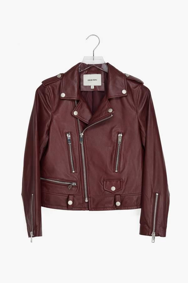 Genuine People Leather Moto Jacket