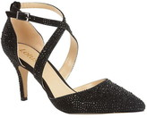 Lotus Shoes Star Diamante Pointed Toe Courts