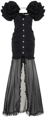 Alessandra Rich Taffeta maxi dress