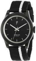 "Johan Eric Men's JE1400-13-007 ""Naestved"" Stainless Steel Watch with Canvass Band"