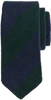 Drakes Drake's® regimental striped tie in blue and green