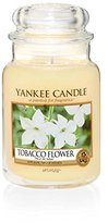 Yankee Candle Tobacco Flower Jar Candle, Yellow, Large