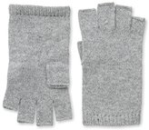 Sofia Cashmere Women's Fingerless Gloves, Grey Flannel