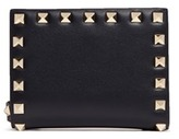 Valentino 'Rockstud' leather fold flap wallet