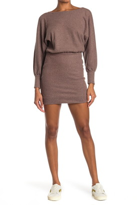 Lush Dolman Sleeve Sweater Dress