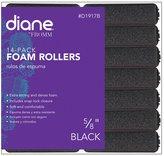 Fromm International Diane Foam Rollers, Black, 5/8-Inch, 14/Bag