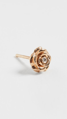 Sydney Evan Single Small Bezel Rose Stud