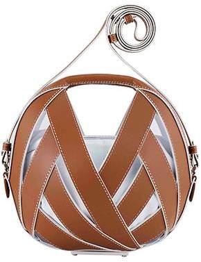 Perrin Paris Le Petit Panier Leather & Wood Shoulder Bag