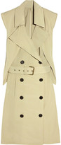 Two-piece twill trench dress