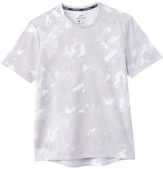 Nike Camouflage Print T-Shirt with Short Sleeves