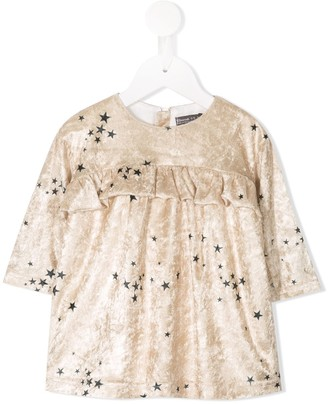 Yellowsub Star Print Velvet Dress