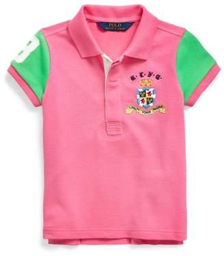 Ralph Lauren Pieced Stretch Mesh Polo Shirt