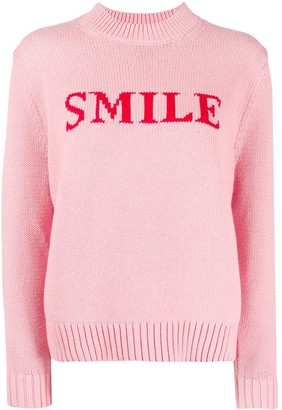 Chinti and Parker Smile intarsia knit jumper