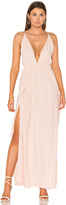 Blq Basiq Low Plunge Maxi Dress