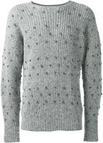E. Tautz knotted crew neck jumper