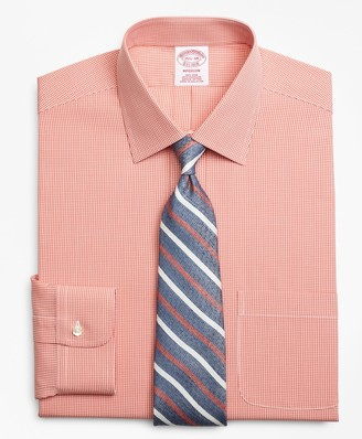 Brooks Brothers Madison Classic-Fit Dress Shirt, Non-Iron Micro-Framed Gingham