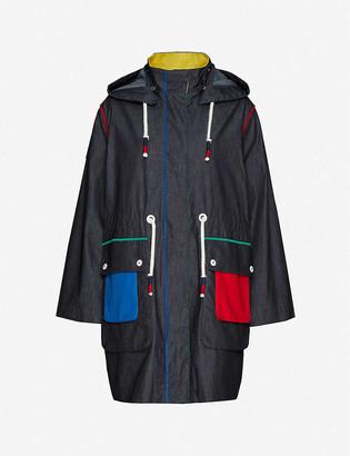 Benetton Hooded panelled cotton jacket