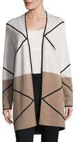 Nipon Boutique Plus Colorblock Open Front Sweater