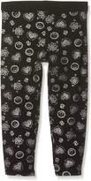 Desigual Toddler Girls' Legging_Floral Hosiery, Black, M