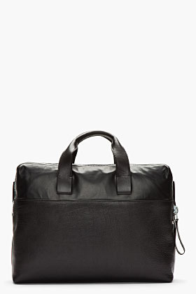 Lanvin Black all-leather structured duffle