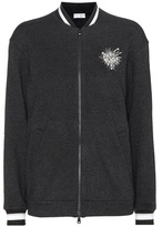 Brunello Cucinelli Embellished cashmere and cotton cardigan