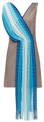 M Missoni Vintage-scarf Lame Mini Dress - Womens - Blue Multi